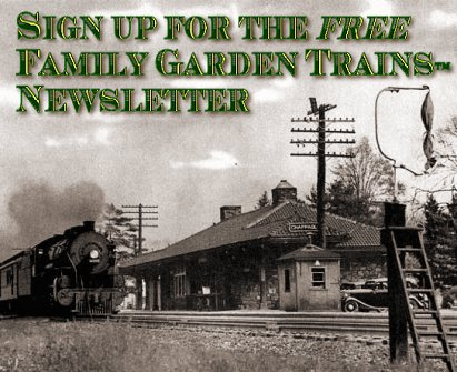 Family Garden Trains Mailing List Signup Sheet