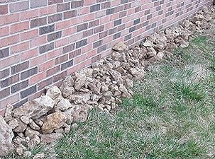 Some of the rocks I had to pick out of the yard before I could plant grass seed. Click for bigger photo.