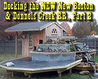 Decking the eastern expansion and preparing it for dirtscaping. Click to go to article.