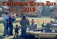 Christmas Train Day, 2019.  On our third year in the new home, we host another Christmas-themed open railroad, giving many families a jump start on Christmas celebrations and sharing the experience of running trains with lots of kids. Click to go to article