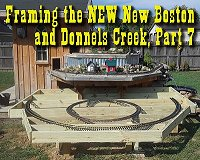 Installing posts, joists, framing, and decking for the eastern expansion of the NEW New Boston and Donnels Creek. Click to go to article.