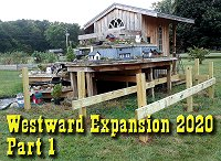 Westward Expansion 2020, Part 1, Revising our plans, digging holes, attaching joists in preparation for a 104-square-foot addition.  Click to go to article.