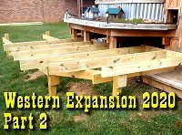 Westward Expansion 2020, Part 2, Finishing the joists and starting the frame. Click to go to article.