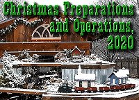 Christmas Preparations and Operations - getting temporary track loops on the new railroad, testing new trains, and entertaining visitors one masked family at a time. Click to go to article.