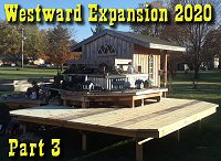 Westward Expansion 2020, Part 3, completing the deck, lining the deck, adding trim boards to hold the dirt and gravel in place. Click to go to article.
