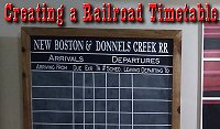 Creating a Railroad Timetable - making a blackboard to hold train schedules, complete with craftcutter lettering.  Click to go to article.