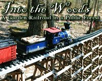 Into the Woods - an elaborate trestle-based railroad in a forest, with instructions GeoCacher's can use to unlock and run a toy train.