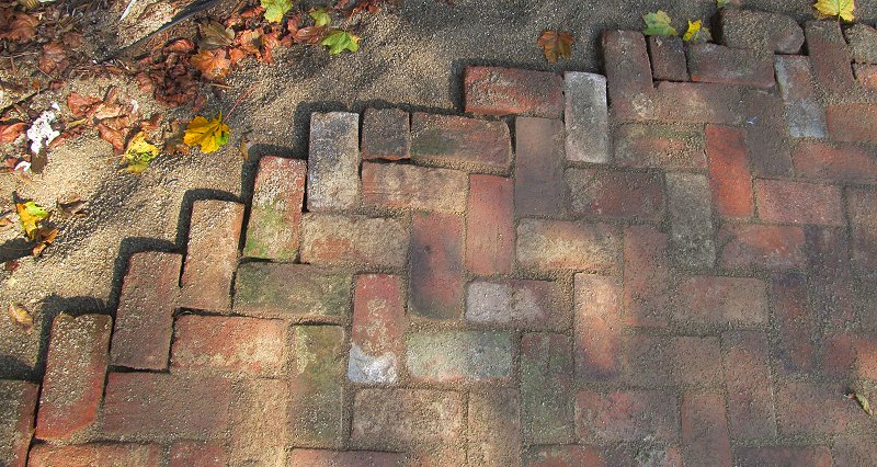 The Northern Edge Of The Project, With Half Bricks Substituted To Allow For  U0027