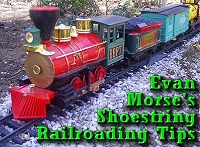 Evan Morse's Shoestring Railroading Tips. Click to go to article.