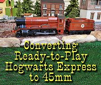Instructions for changing a Lionel Ready-to-Play Hogwarts Express from 2