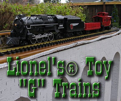 Lionel's battery powered toy trains are just that - toys.  Good for keeping the kids out of your real trains, and entertaining young visitors.  Click to go to an article reviewing the first two that came out.