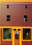 One of three Colorado Model Structures townhouse building fronts. Click for bigger photo.