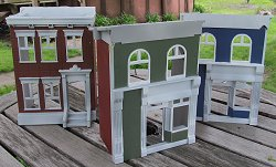 Trashbashed Fisher Price Sesame Street buildings ready for bases. click for bigger photo.