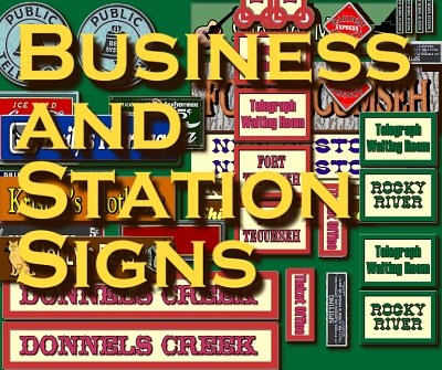 Business And Station Signs